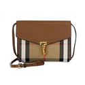 Burberry Small Leather House Check Crossbody Bag