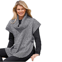 Sweater, Poncho Style With Cowl Neck