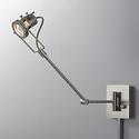 Single Spotlight Plug-In Steel Swing Arm Wall Lamp