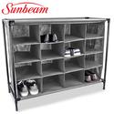 Sunbeam 16-Compartment Cubby Shoe Rack