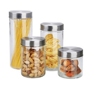 Home Basics Glass Canister Set with Airtight Lids (8-Piece)