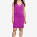 Ralph Lauren Plus Size Overlay V-Back Dress