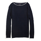 Cable Boatneck Sweater