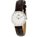 Daniel Wellington Classy York White Dial Brown Leather Ladies Watch