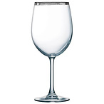 Platinum Rimmed Wine Glass