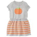 Girls' Pumpkin Sweater Dress