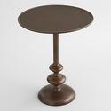 Antique Brass Jace Pedestal Table