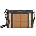 Burberry Horseferry Check Leather Clutch
