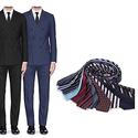 Braveman Men's Double-Breasted Slim-Fit Suit w/Tie