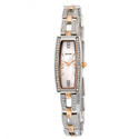 Bulova Crystal Mother of Pearl Dial Two-tone Ladies Watch