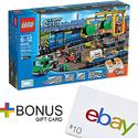 乐高 LEGO City 城市系列货运列车60052+$10 ebay 礼卡
