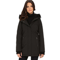 DKNY Hooded Anorak w/ Faux Fur Collar Women's Parka