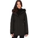 DKNY Hooded Anorak w/ Faux Fur Collar Women's Parka