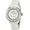 Chanel J12 White Ceramic Diamonds Quartz Ladies Watch