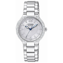 Citizen EP5970-57A Women's Eco-Drive SS Silver Dial Diamond Watch
