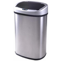 13-Gallon Touch-free Sensor Stainless Steel Trash Can
