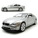 """BMW 645CI 7.3"""" 1:24 Silver Remote Control Model"""