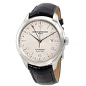 Baume and Mercier Clifton Dual Time Silver Dial Men's Watch