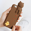 LINE FRIENDS Character Brown Figure Silicone Phone Case Cover Apple iPhone 6/6s