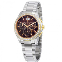 Miros Chronograph Brown Mother of Pearl Dial Ladies Watch
