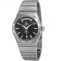 Omega Constellation Chronometer Black Dial Stainless Steel Men's Watch
