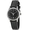Maurice Lacroix Les Classiques Date Black Dial Black Leather Ladies Quartz Watch