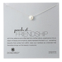 "Dogeared ""Pearls of  Friendship"" Sterling Silver and White Freshwater Pearl Necklace"