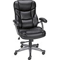 Staples Osgood Bonded Leather High-Back Manager's Chair