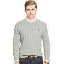 Ralph Lauren Men's Cable-Knit Cotton Sweater