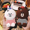 3D Cute Cartoon Case Soft Silicone Back Rubber Cover For Apple iPhone