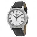 Tissot T-Classic Carson White Dial Black Leather Men's Watch