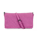 Bottega Veneta Small Woven Leather Clutch Bag