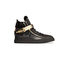 Giuseppe Zanotti Shearling-trimmed Leather Sneakers