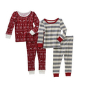 4-Piece Baby Toddler Girl Cotton Tight Fit Pajamas
