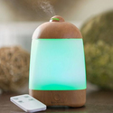 SpaMist Woodgrain Ultrasonic Diffuser with Remote