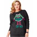 Hanes EcoSmart Women's Holiday Sweatshirt