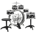 Kids Drum Set Kids Toy with Cymbals Stands Throne