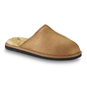 Route 66 Men's Matty2 Wheat Faux Fur Scuff Slipper