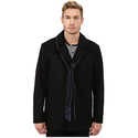 Perry Ellis Wool Carcoat with Scarf