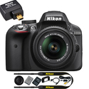 Refurbished Nikon D3300 24.2MP DSLR Camera w/ 18-55mm VR II Lens + Wifi Adapter