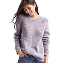 GAP Women's Marled Long Sweater