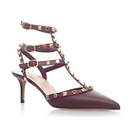 Valentino Rockstud Roll Pumps
