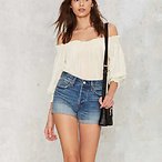 Levi's Wedgie Fit Denim Shorts