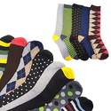 Refael Collection Men's Multi-Colored Casual Socks 5 pairs