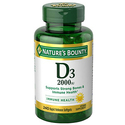 Nature's Bounty Vitamin D3 2000 IU 240 Soft Gels