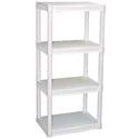 Plano 4-Tier Heavy-Duty Plastic Shelves