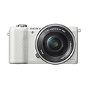 Sony Alpha a5000 Mirrorless Digital Camera with 16-50mm OSS Lens - White