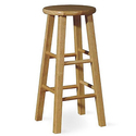 "International Concepts 24"" Roundtop Barstool"