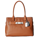 COACH Color Block Polished Pebble Leather New Swagger