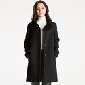 Uniqlo Women's Cashmere Blended Stand Collar Coat